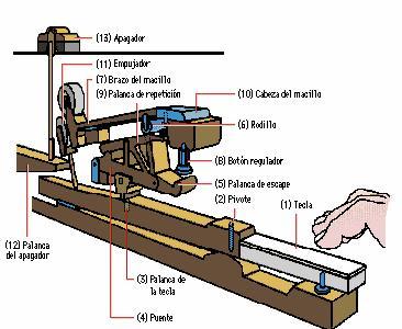 El mecanismo del piano de cola