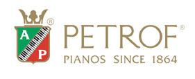 El logo de pianos Petrof