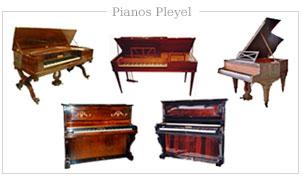 Modelos de pianos Pleyel de Francia