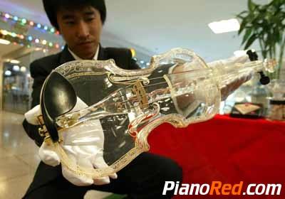violin de vidrio
